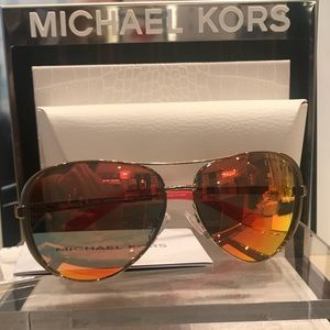 MICHAEL KORS AVIATOR SUNGLASSES NWT retired color